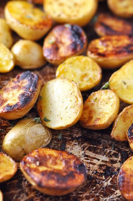 Roasted Salt N Vinegar Baby Potatoes With Rosemary